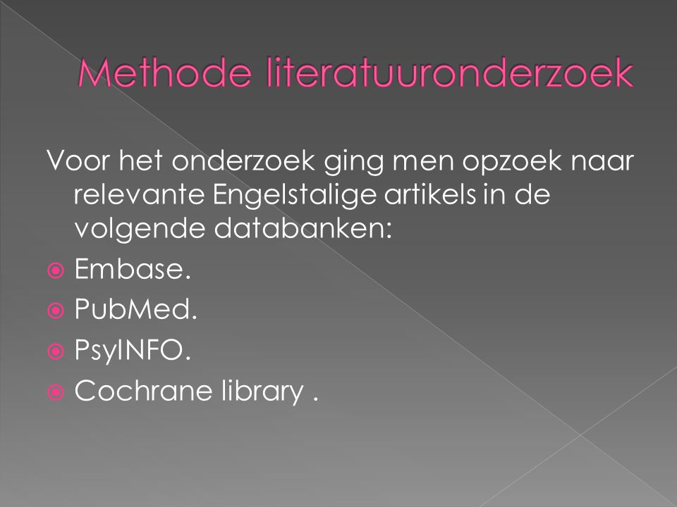 Methode literatuuronderzoek