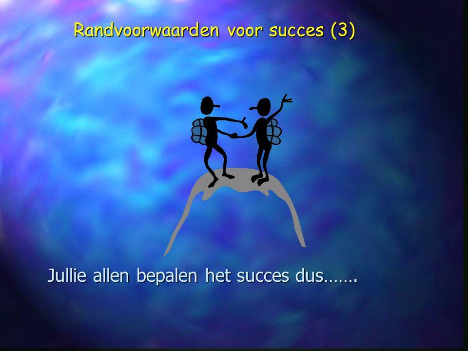 Randvoorwaarden voor succes (3)