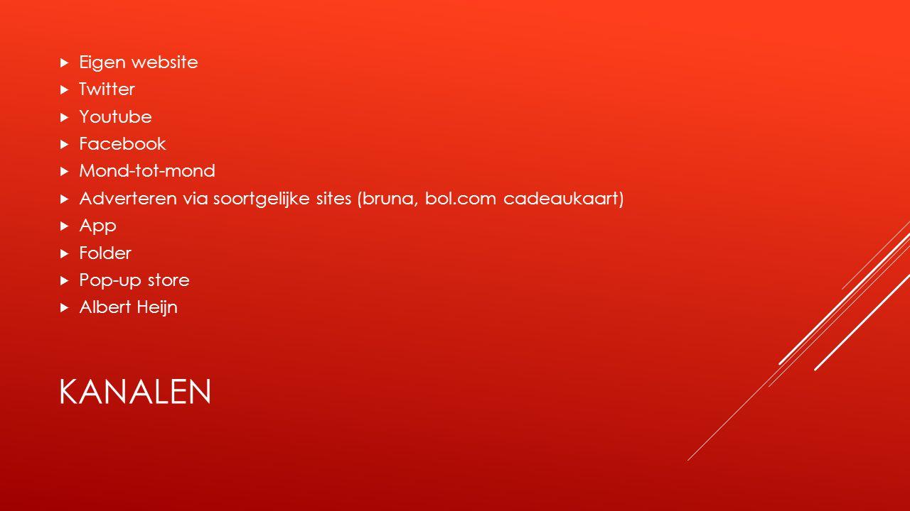 Kanalen Eigen website Twitter Youtube Facebook Mond-tot-mond