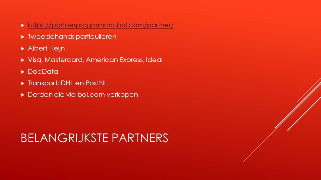 Belangrijkste partners