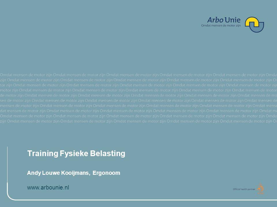 Training Fysieke Belasting
