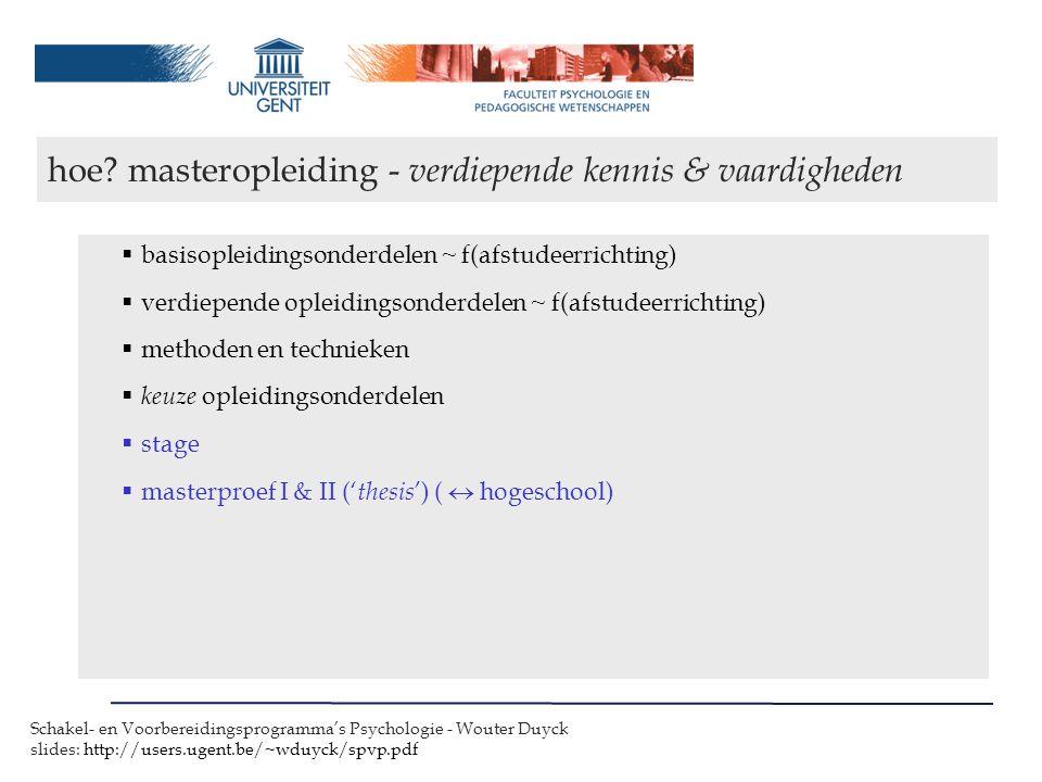 hoe masteropleiding - verdiepende kennis & vaardigheden