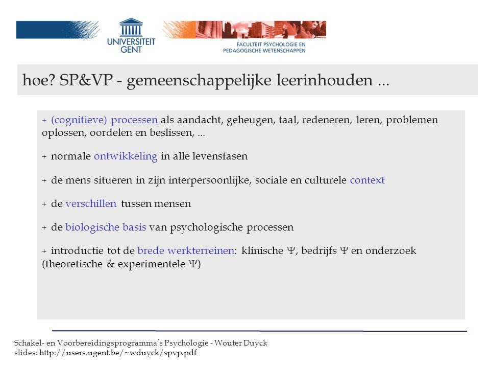 hoe SP&VP - gemeenschappelijke leerinhouden ...