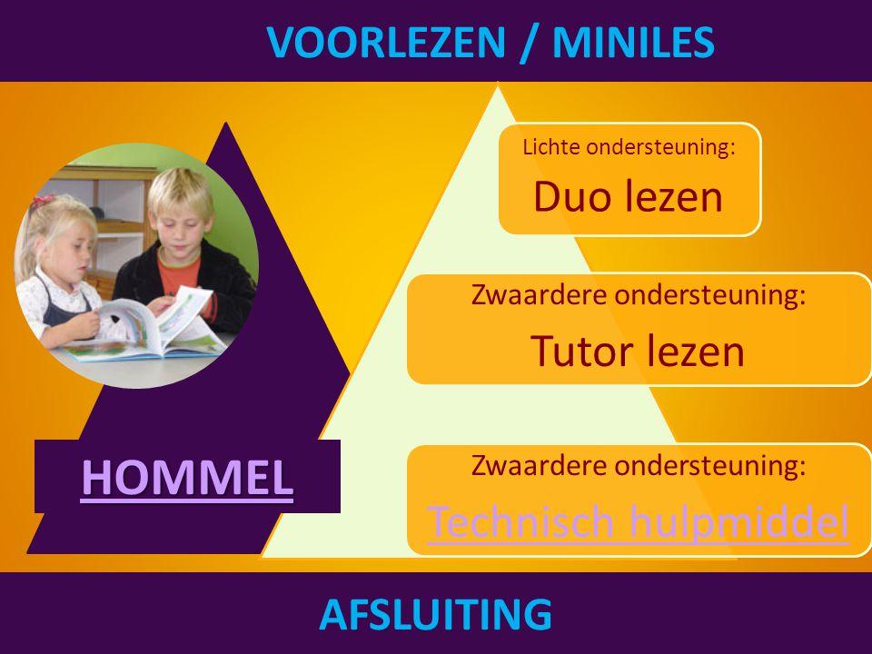 HOMMEL VOORLEZEN / MINILES Technisch hulpmiddel Duo lezen Tutor lezen