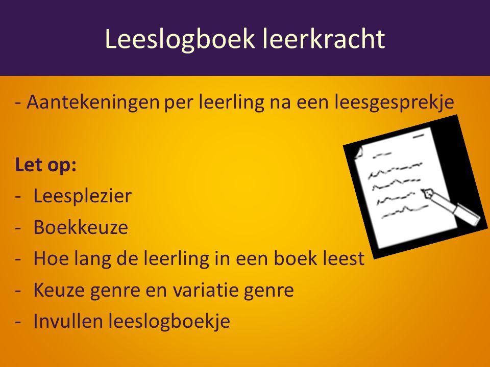 Leeslogboek leerkracht