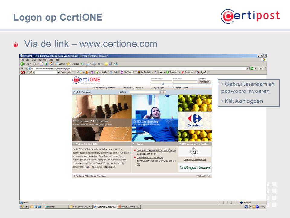 Via de link – www.certione.com