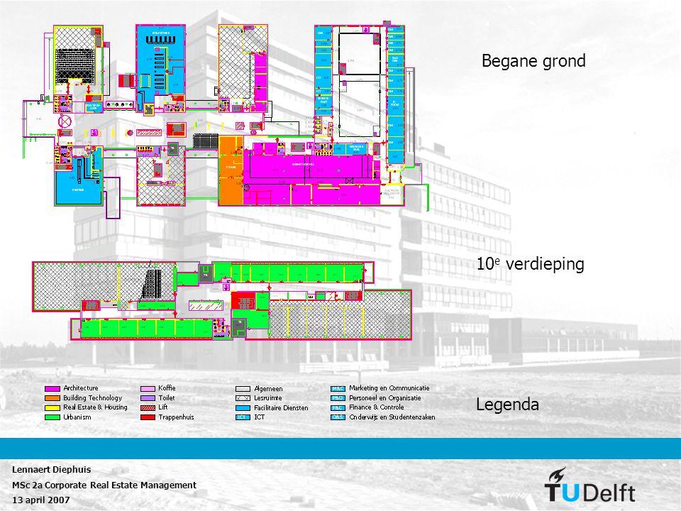 Begane grond 10e verdieping Legenda Lennaert Diephuis