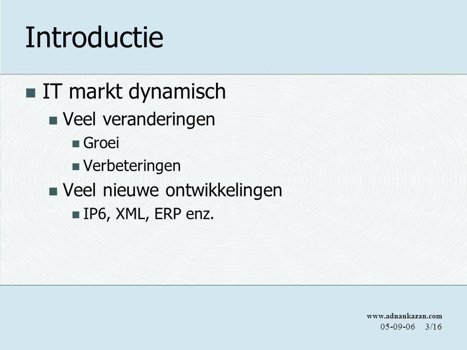 Introductie IT markt dynamisch Veel veranderingen