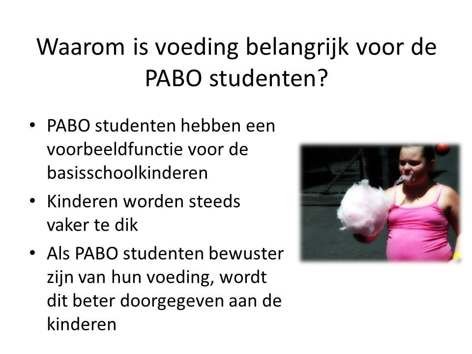 Waarom is voeding belangrijk voor de PABO studenten