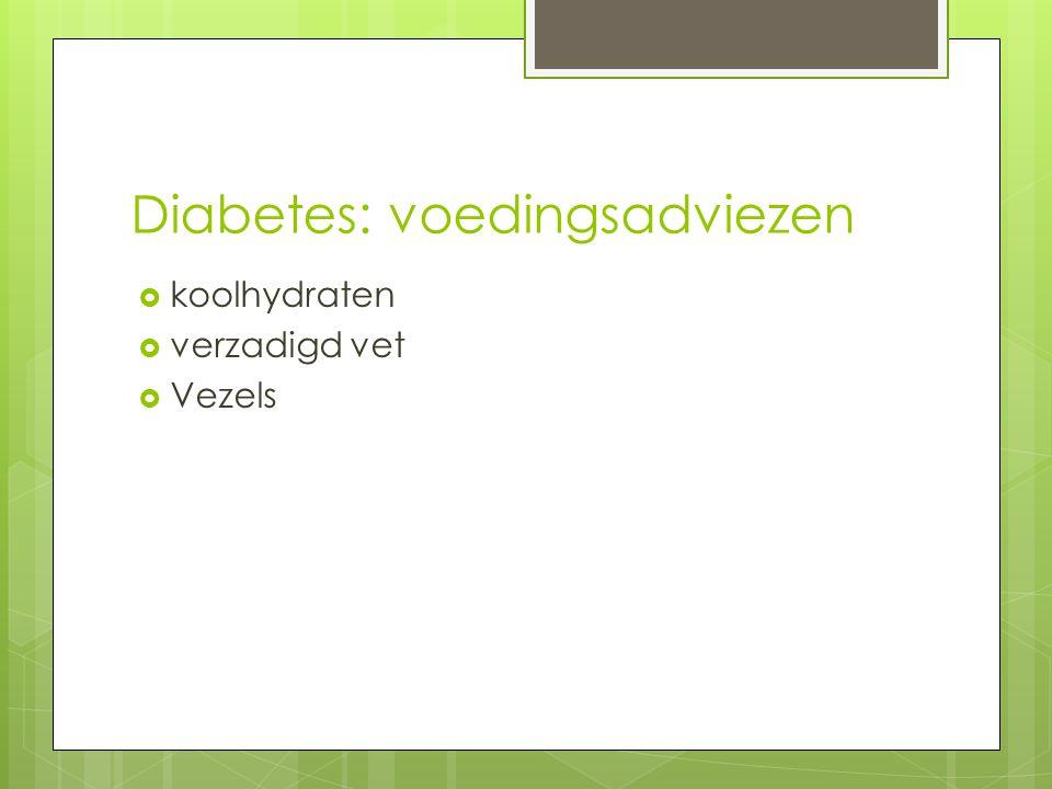 Diabetes: voedingsadviezen