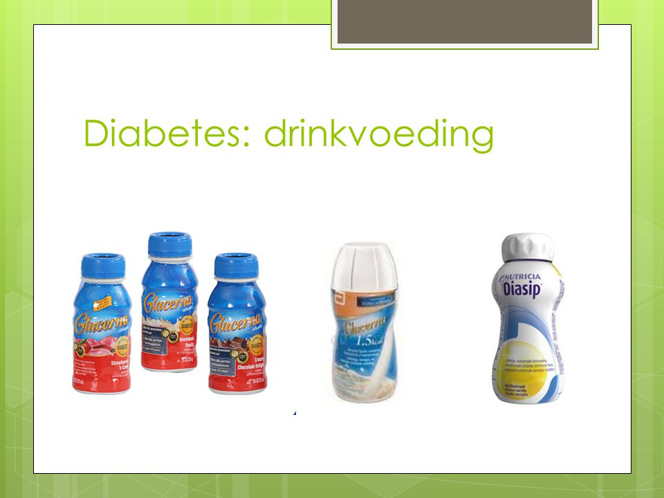 Diabetes: drinkvoeding