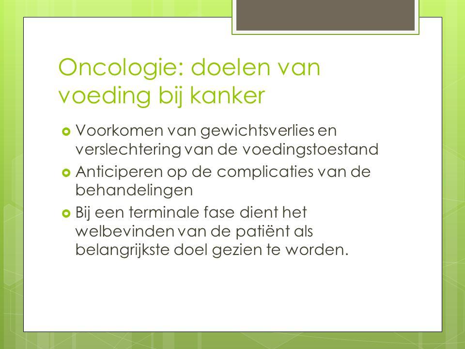 Oncologie: doelen van voeding bij kanker