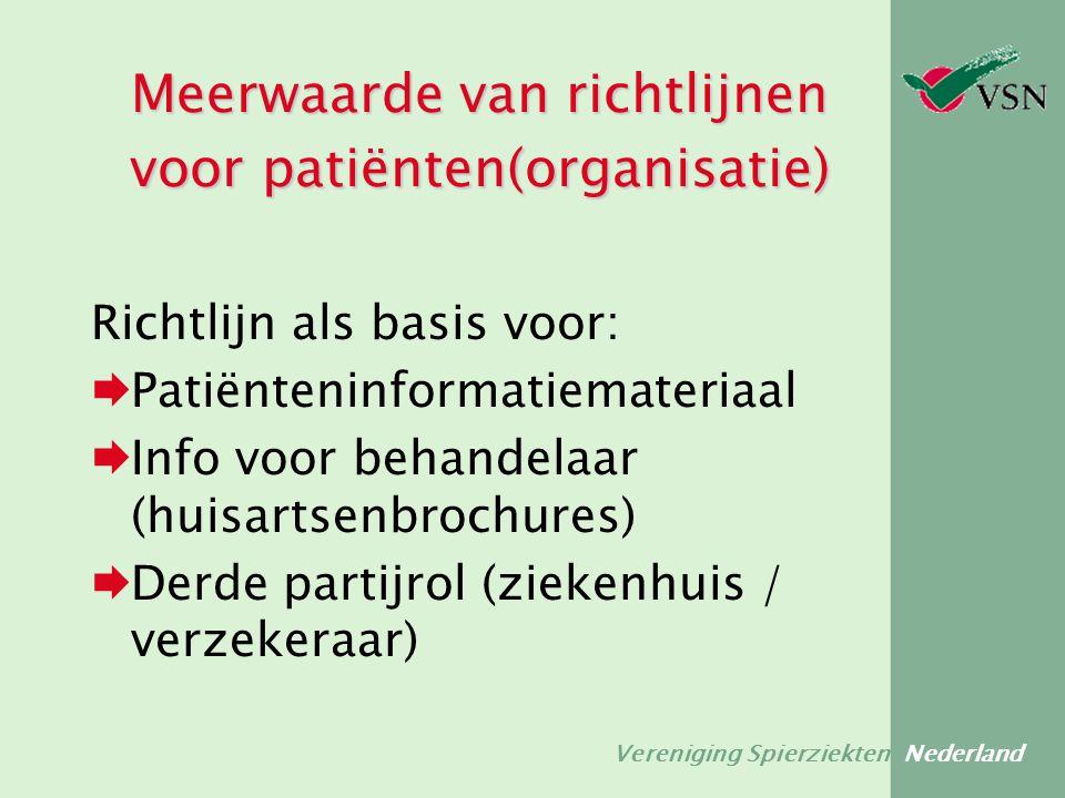 Meerwaarde van richtlijnen voor patiënten(organisatie)