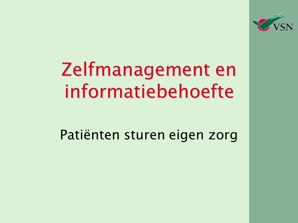 Zelfmanagement en informatiebehoefte