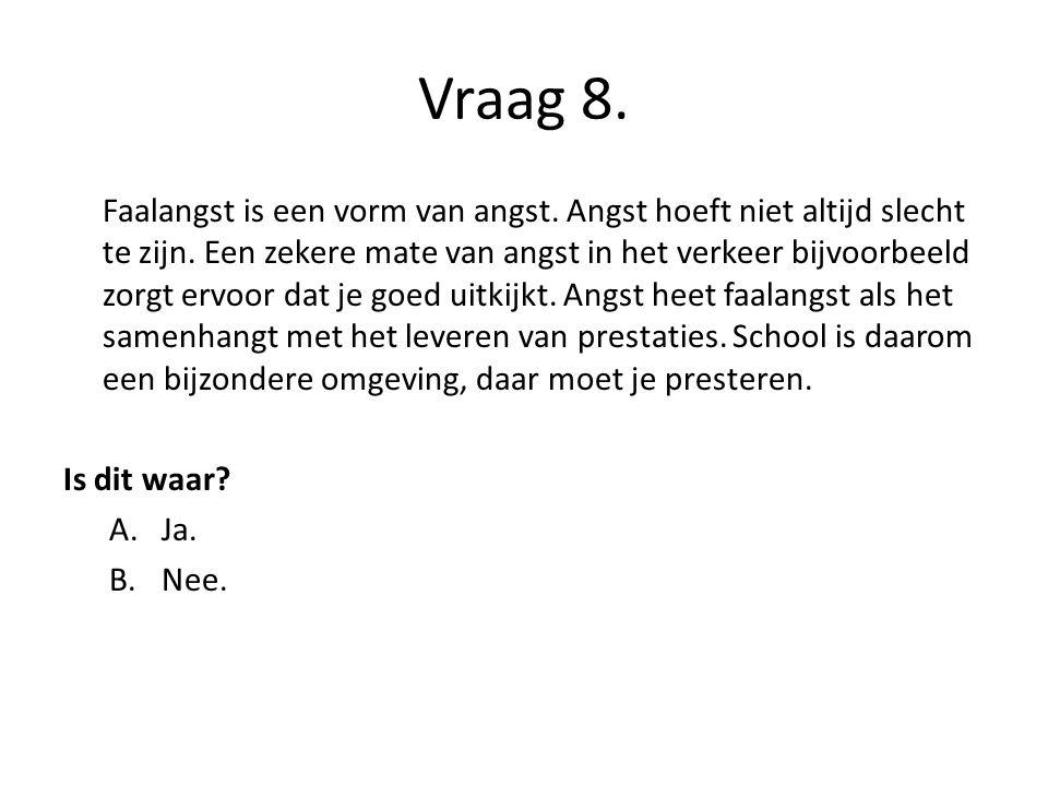 Vraag 8.