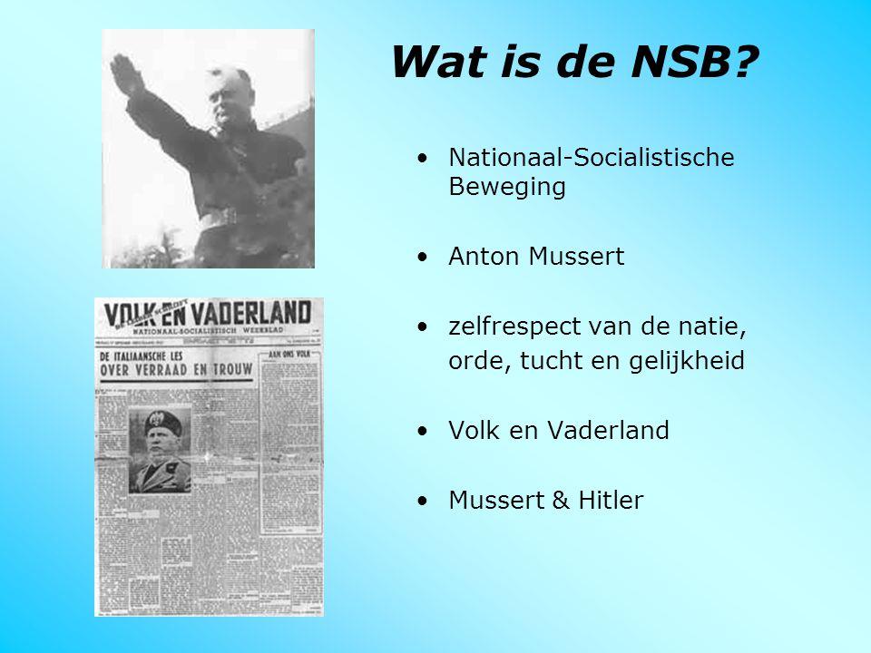 Wat is de NSB Nationaal-Socialistische Beweging Anton Mussert