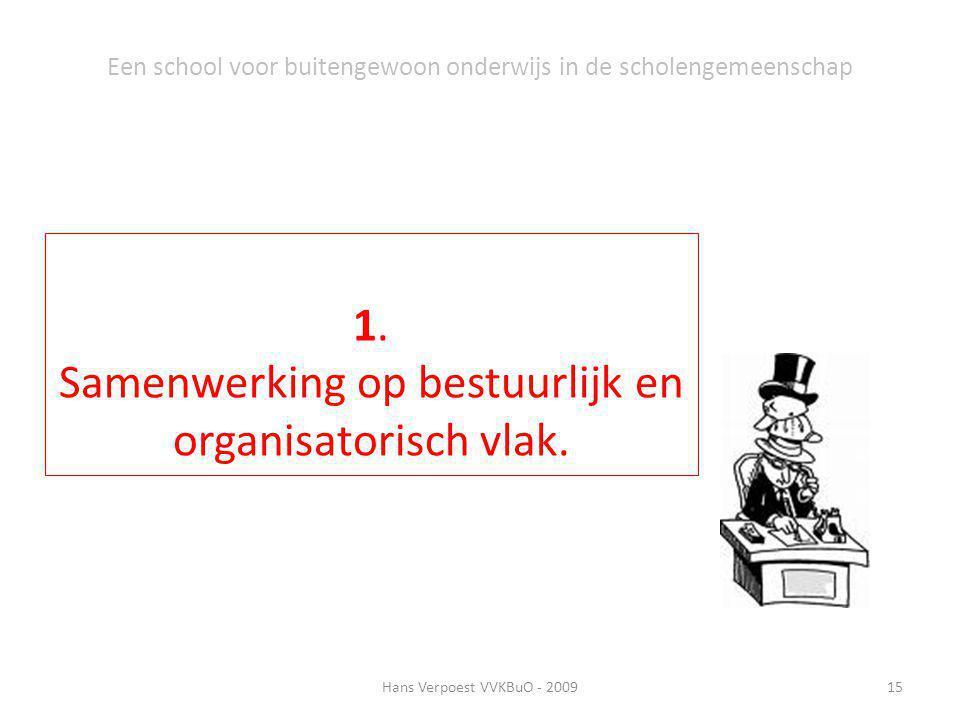 Samenwerking op bestuurlijk en organisatorisch vlak.