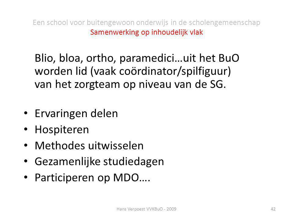 Gezamenlijke studiedagen Participeren op MDO….