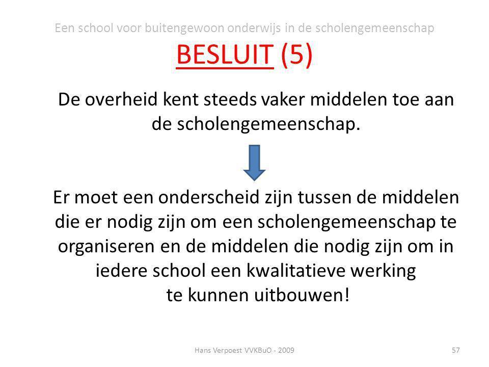 Een school voor buitengewoon onderwijs in de scholengemeenschap BESLUIT (5)