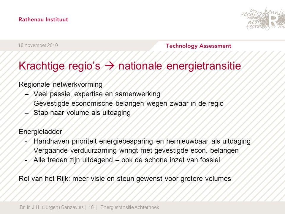 Krachtige regio's  nationale energietransitie