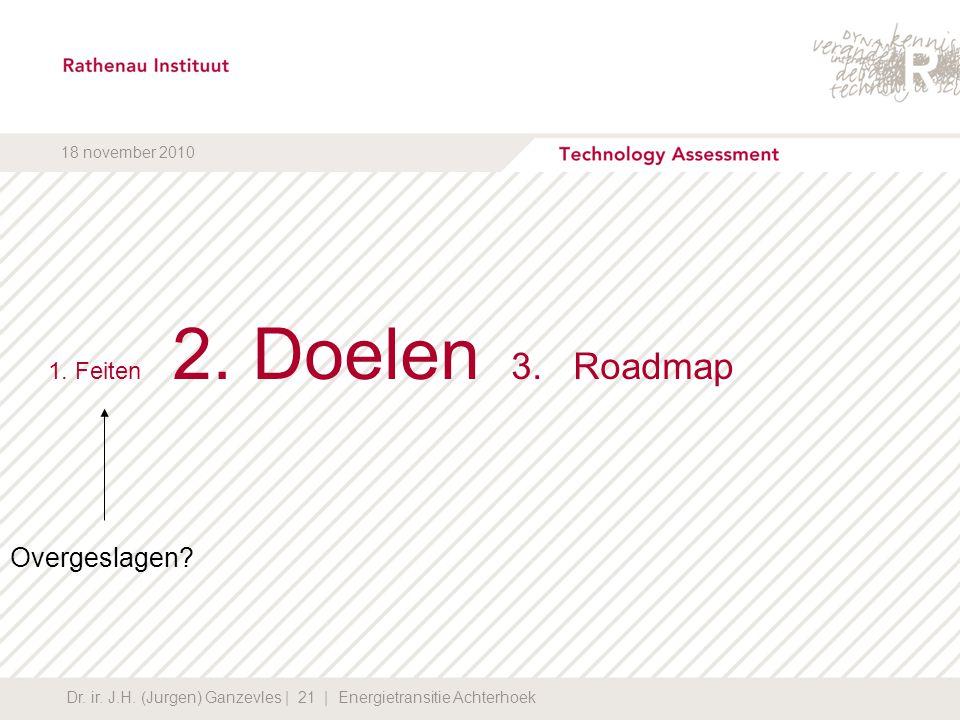 Overgeslagen 1. Feiten 2. Doelen 3. Roadmap