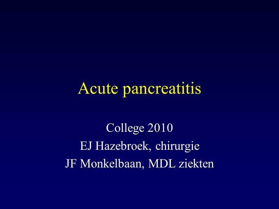College 2010 EJ Hazebroek, chirurgie JF Monkelbaan, MDL ziekten