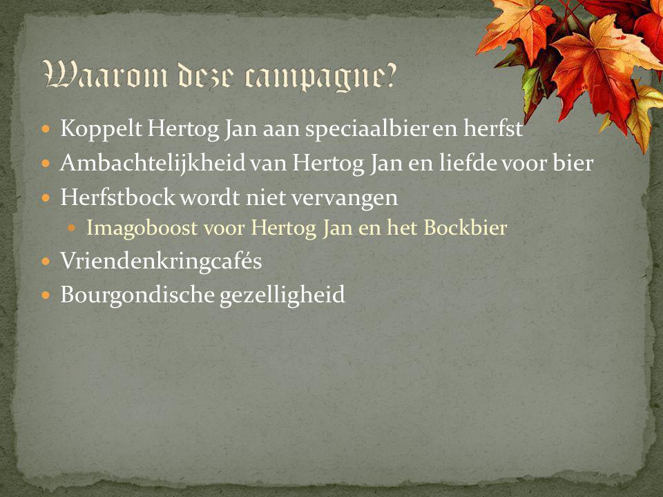 Waarom deze campagne Koppelt Hertog Jan aan speciaalbier en herfst