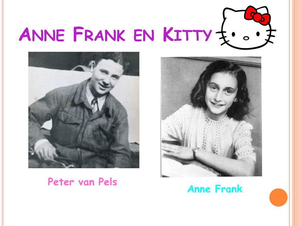 Anne Frank en Kitty Peter van Pels Anne Frank