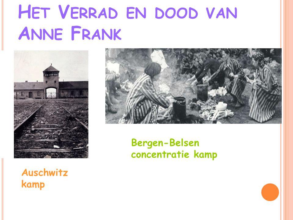 Het Verrad en dood van Anne Frank