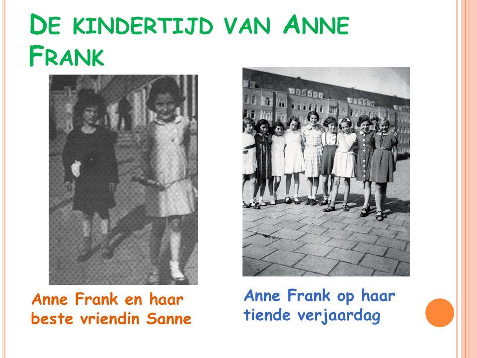 De kindertijd van Anne Frank