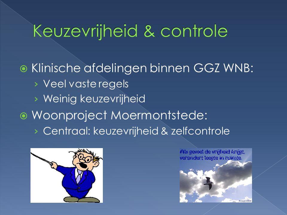Keuzevrijheid & controle