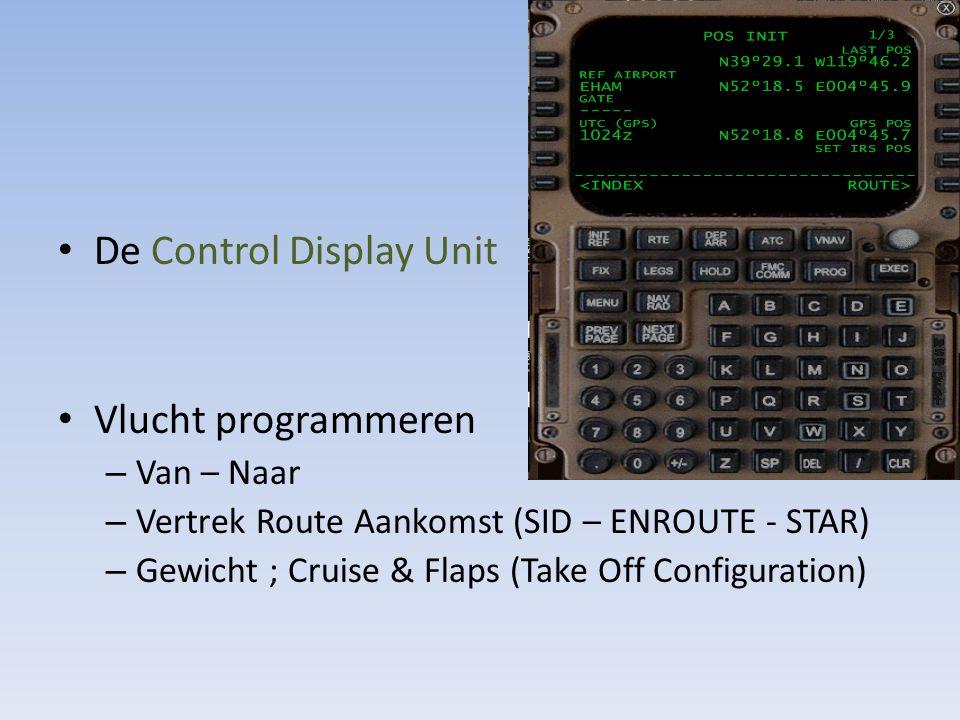 De Control Display Unit