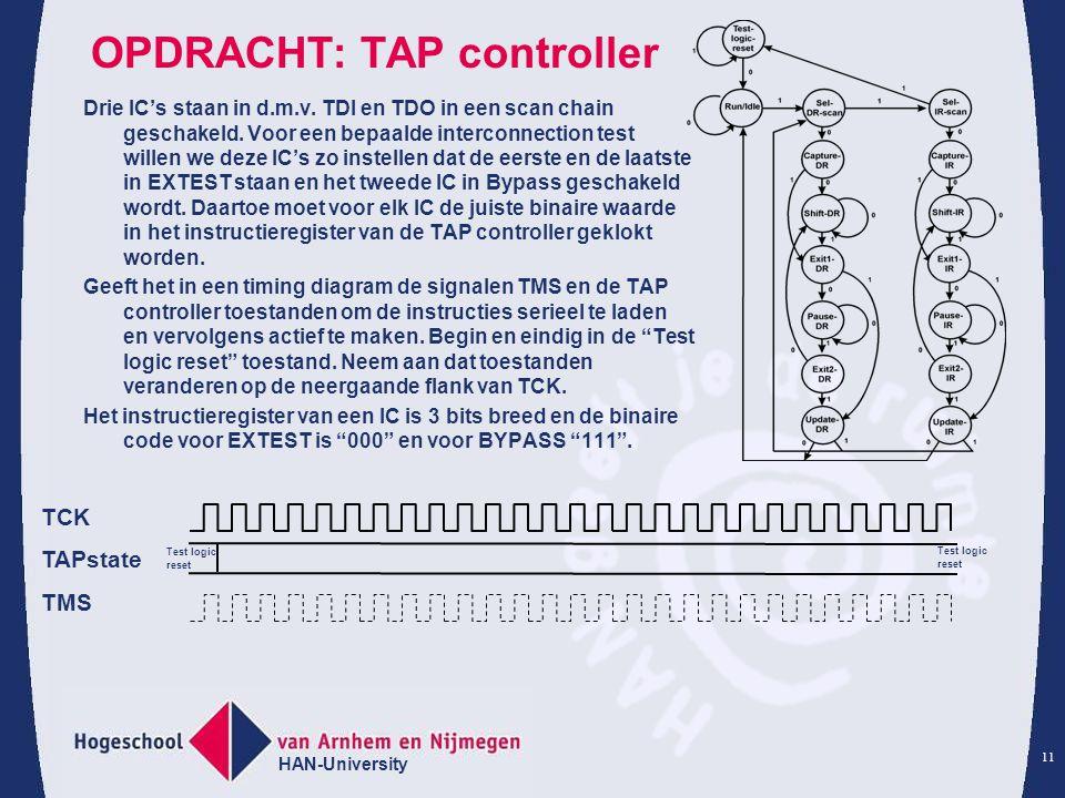 OPDRACHT: TAP controller