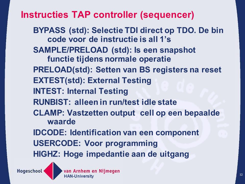 Instructies TAP controller (sequencer)
