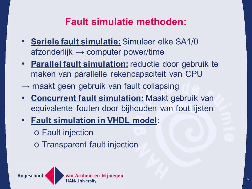 Fault simulatie methoden: