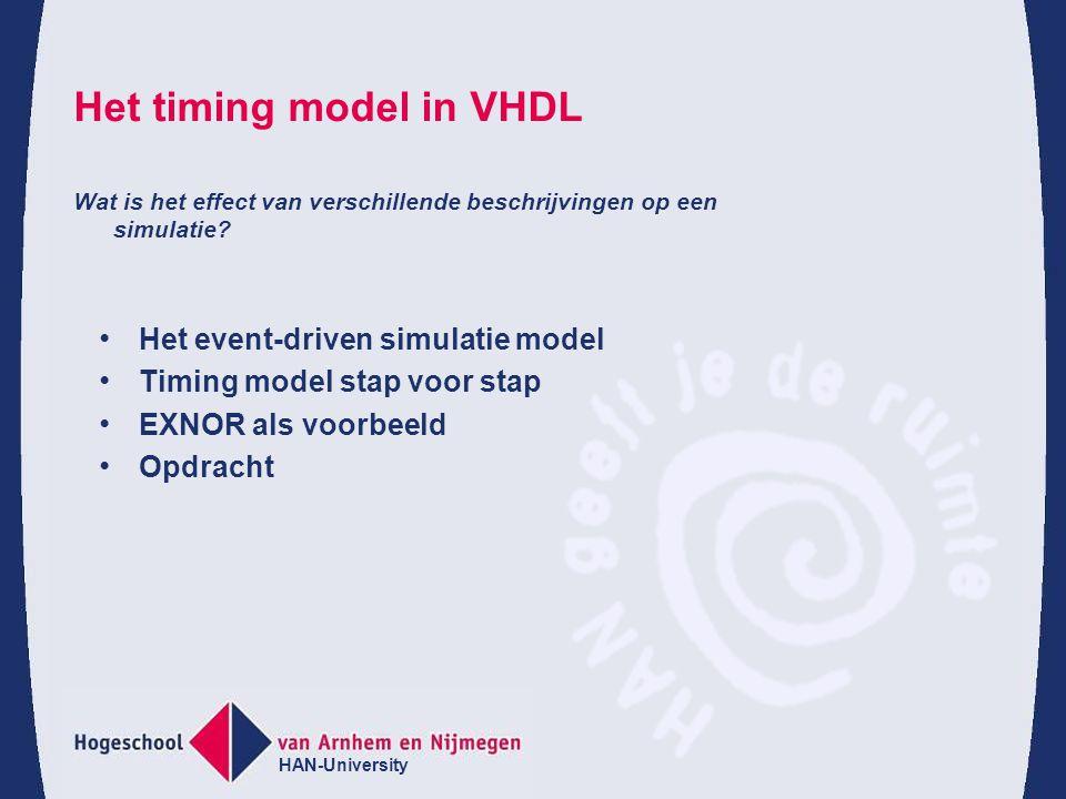 Het timing model in VHDL