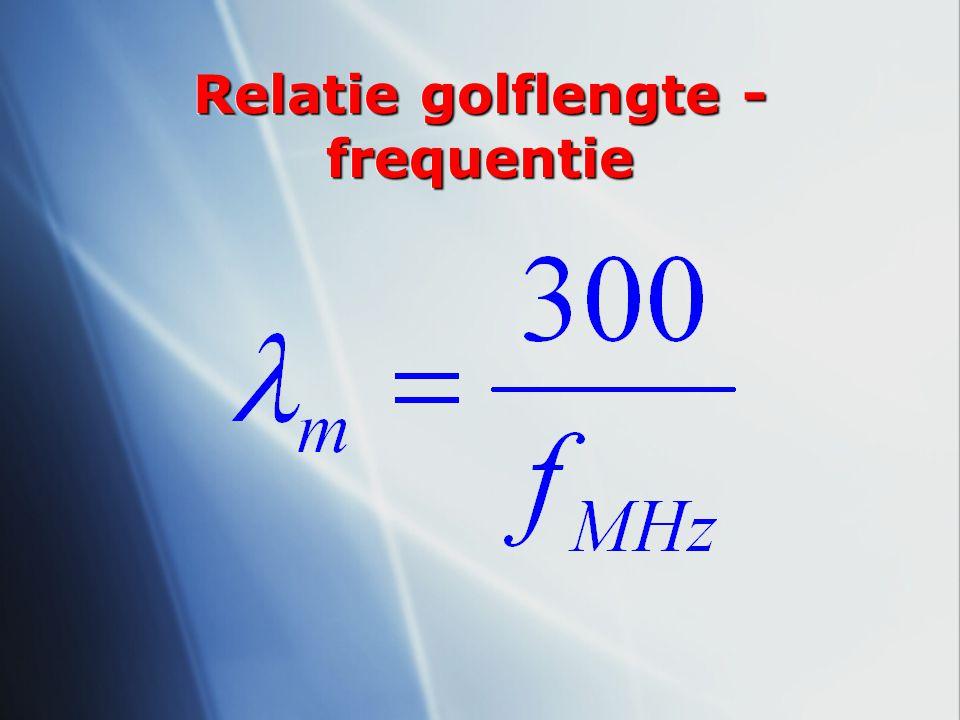 Relatie golflengte - frequentie