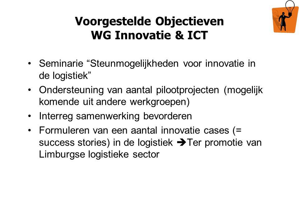 Voorgestelde Objectieven WG Innovatie & ICT