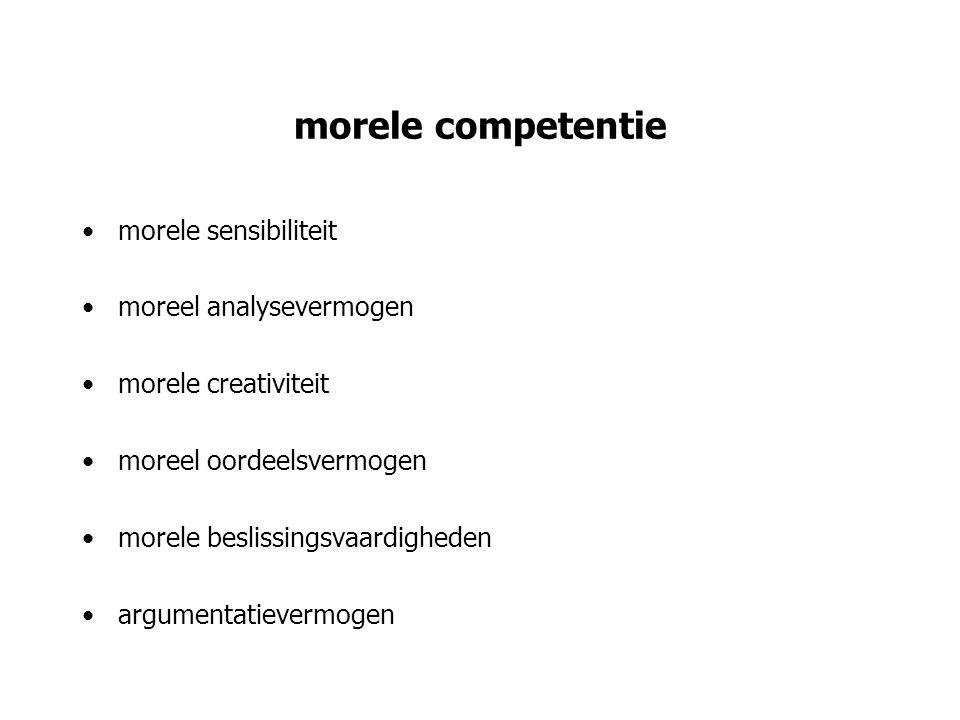 morele competentie morele sensibiliteit moreel analysevermogen