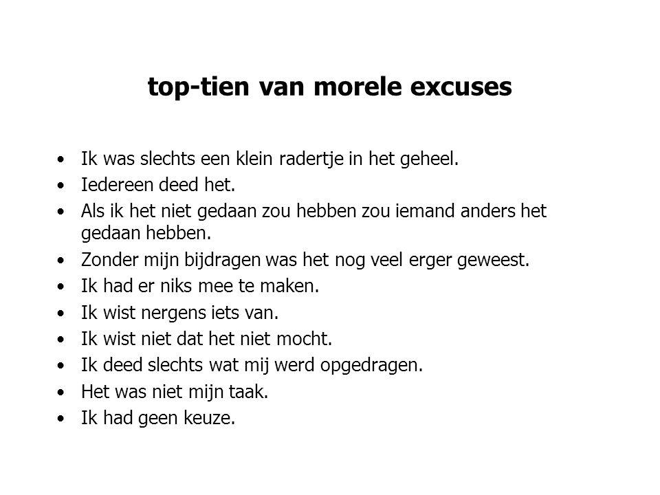 top-tien van morele excuses