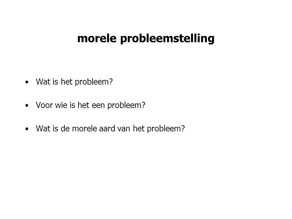 morele probleemstelling