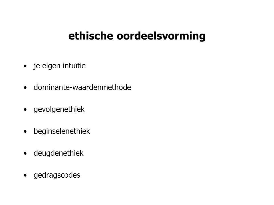 ethische oordeelsvorming