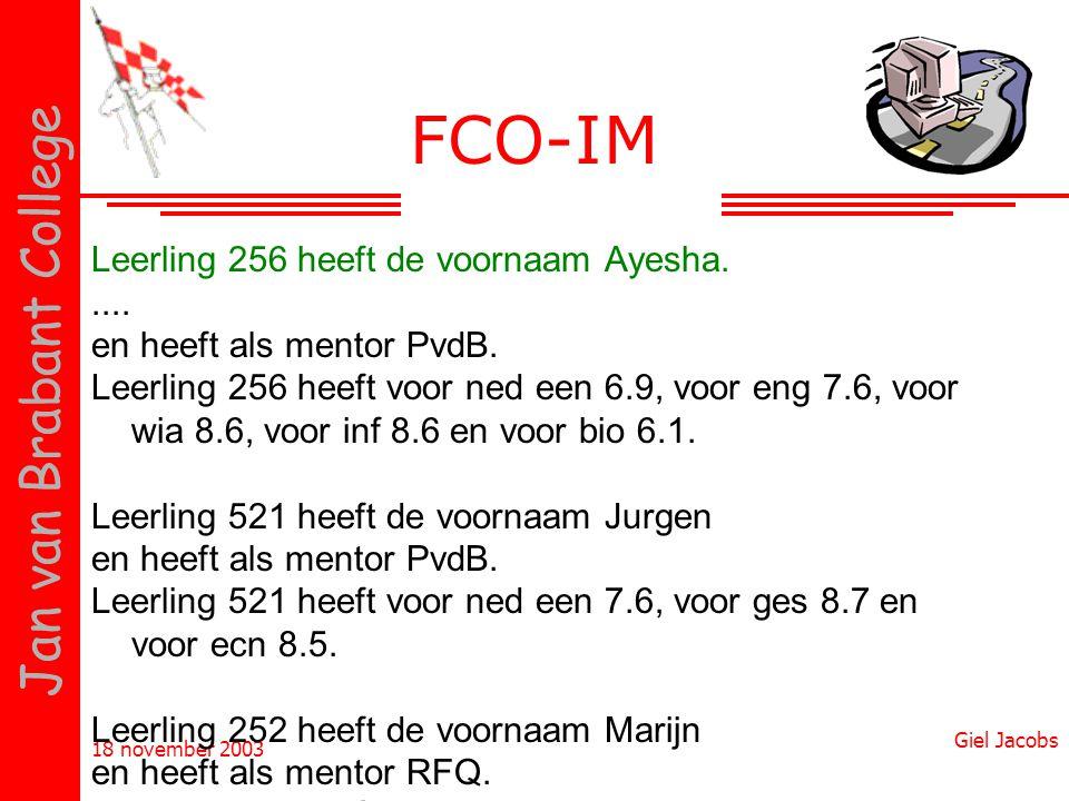 FCO-IM Leerling 256 heeft de voornaam Ayesha. ....