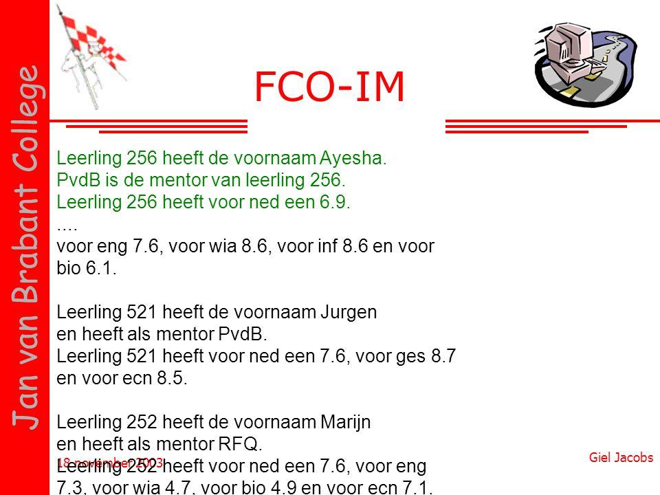 FCO-IM Leerling 256 heeft de voornaam Ayesha.