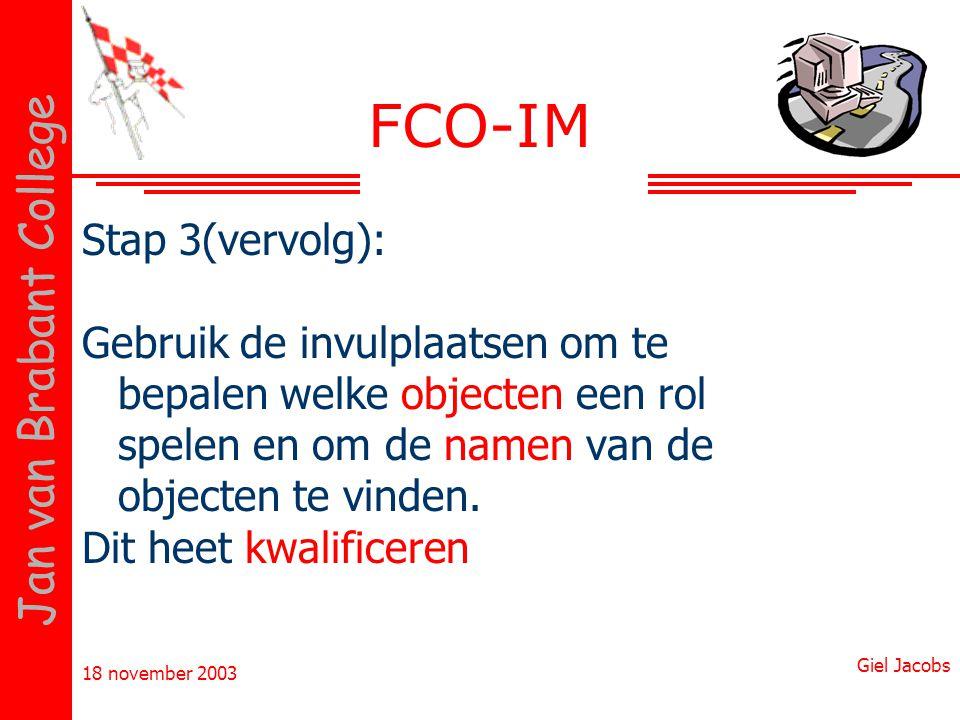 FCO-IM Stap 3(vervolg):