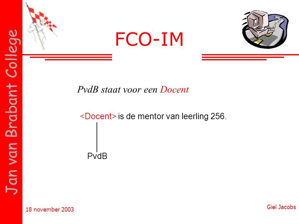 FCO-IM PvdB staat voor een Docent