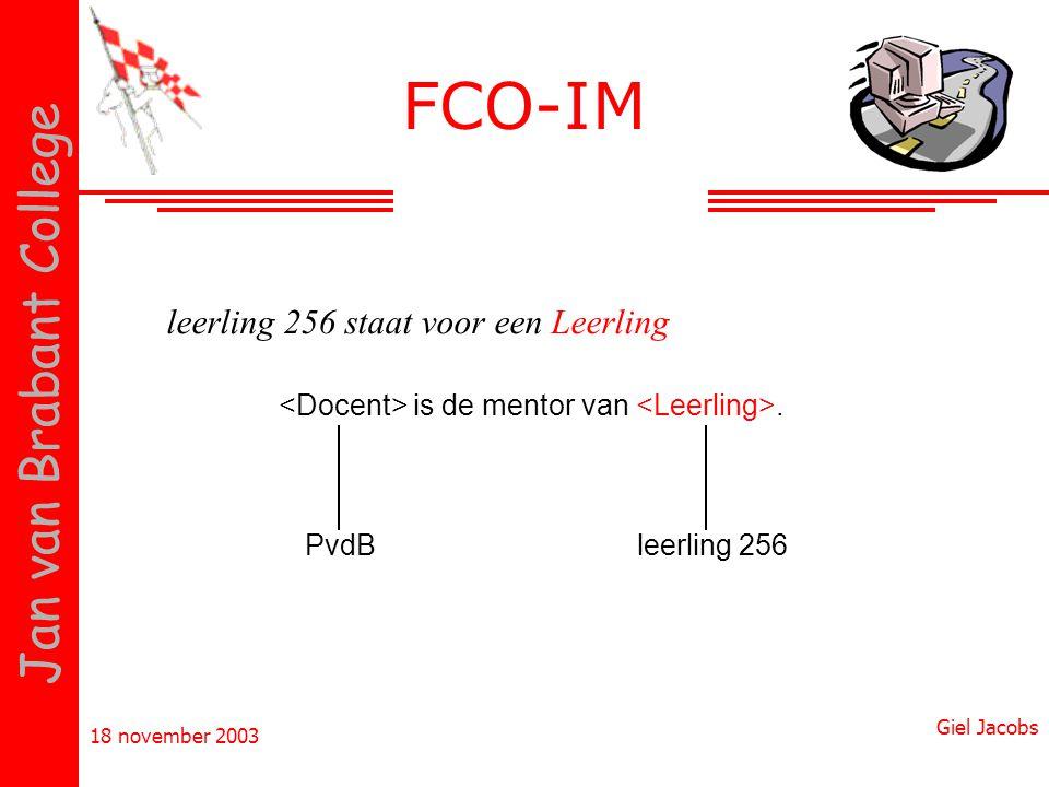 FCO-IM leerling 256 staat voor een Leerling