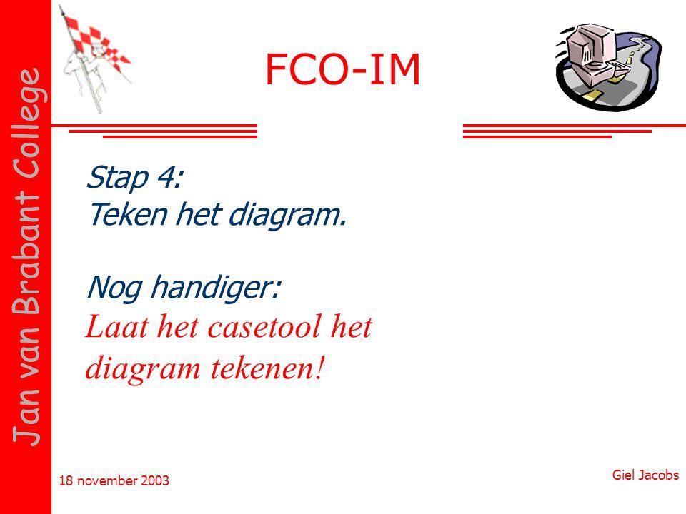 FCO-IM Laat het casetool het diagram tekenen! Stap 4: