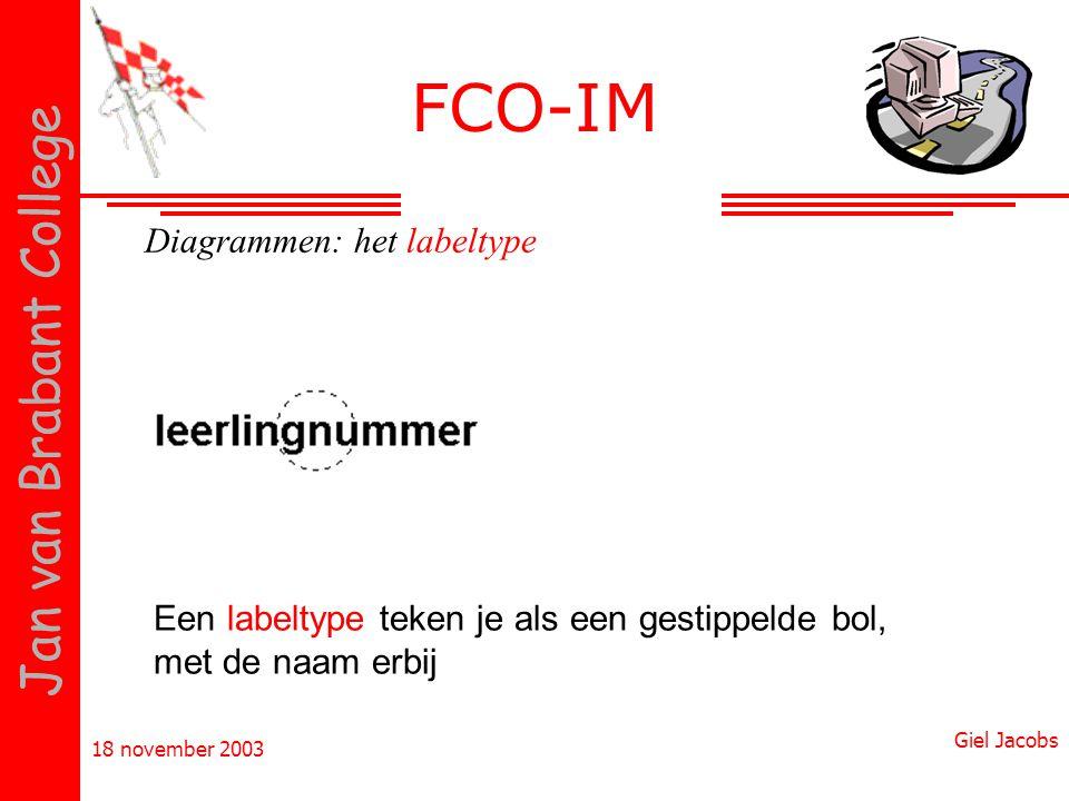 FCO-IM Diagrammen: het labeltype