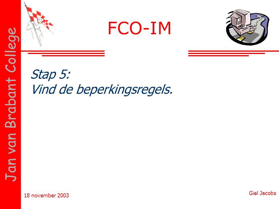 FCO-IM Stap 5: Vind de beperkingsregels.